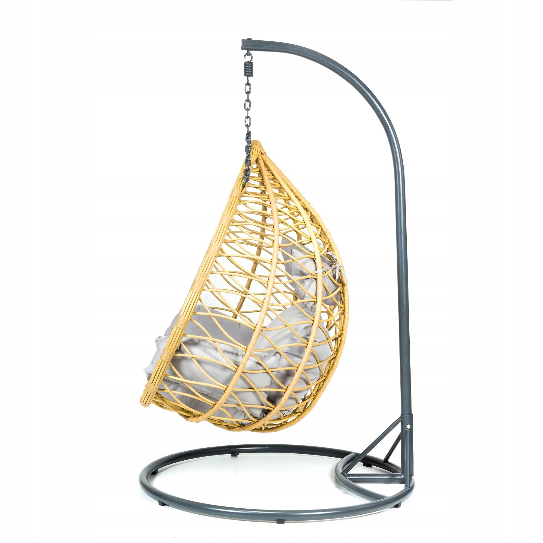 Závesná záhradná stolička XXL hojdací kokonový kôš Hmotnosť produktu s jednotkovým balením 36 kg