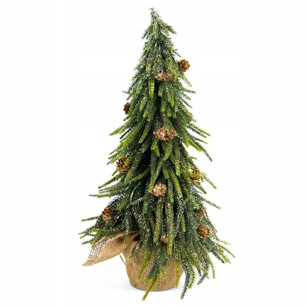 Umelý vianočný stromček Pe zlato + šišky 49 cm