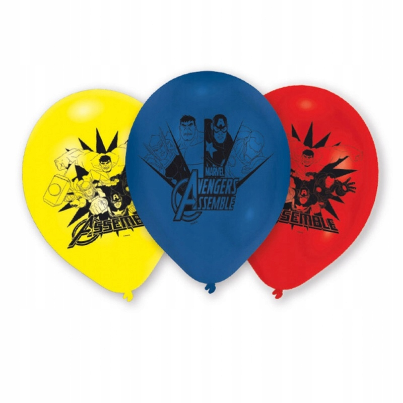 Латексные шары на день рождения Мстители - 6 шт.