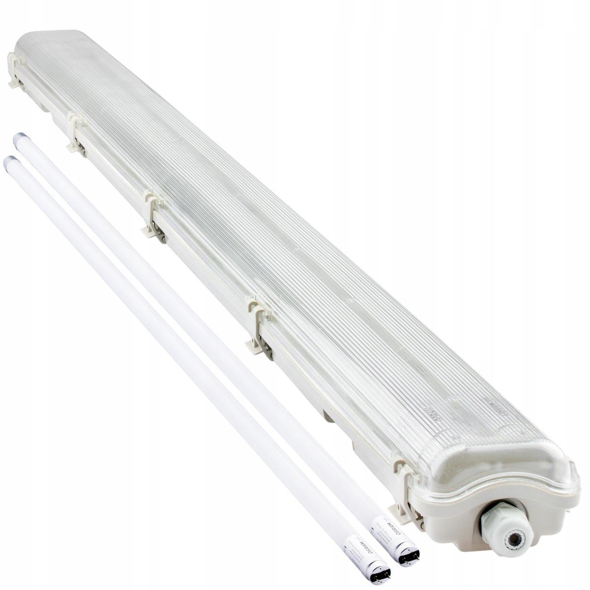 Купить Герметичный светильник 120см + 2x светодиодные трубки OSRAM на Otpravka - цены и фото - доставка из Польши и стран Европы в Украину.