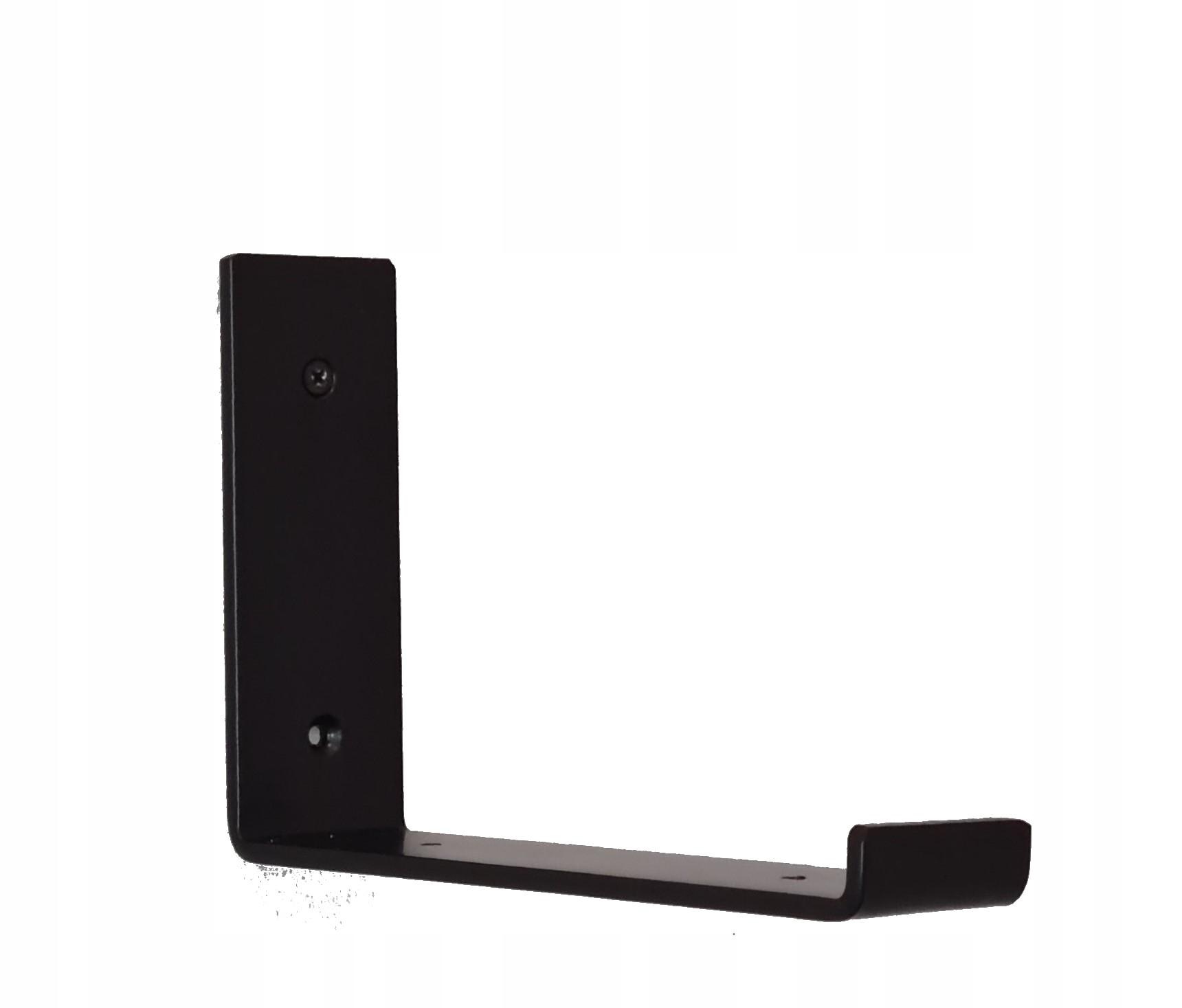 Кронштейн для полки, черный металл, лофт, 20 см