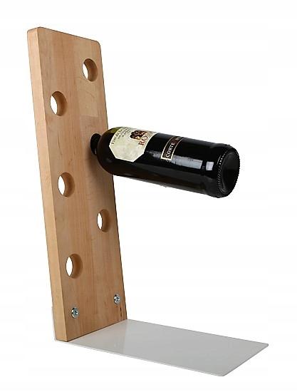 PÓŁKA na wino NA PREZENT 6 butelek DREWNO
