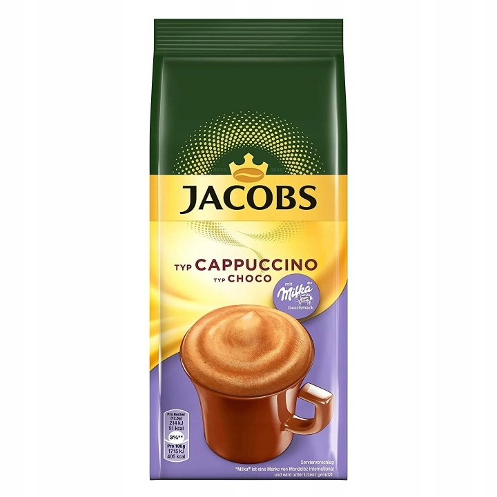 Шоколад Jacobs Cappucino Milka Choco Milka 500г