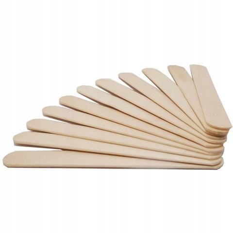 Patyczki do wosku Szpatułki drewniane 100 szt. Waga produktu z opakowaniem jednostkowym 0.1 kg