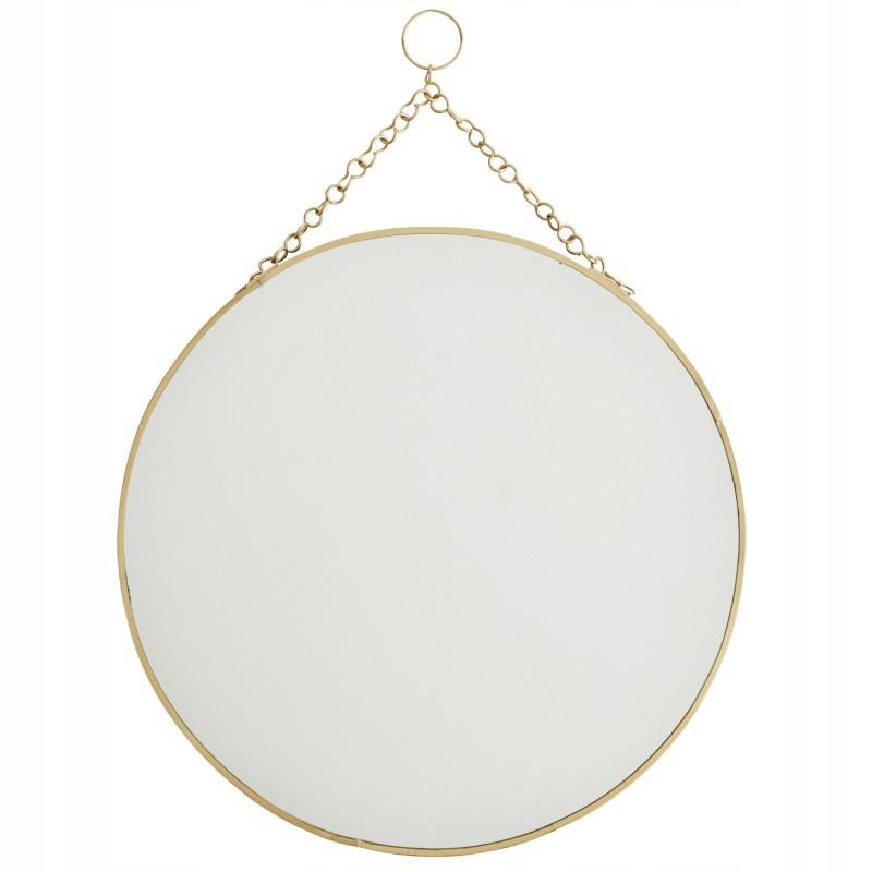 Zrkadlo kolo s reťazca Zlaté 30 cm