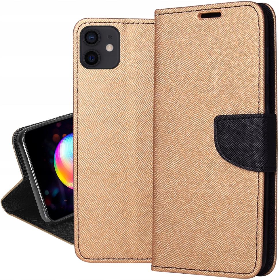Etui do iPhone 12 Fancy Portfel Case + SZKŁO 9H