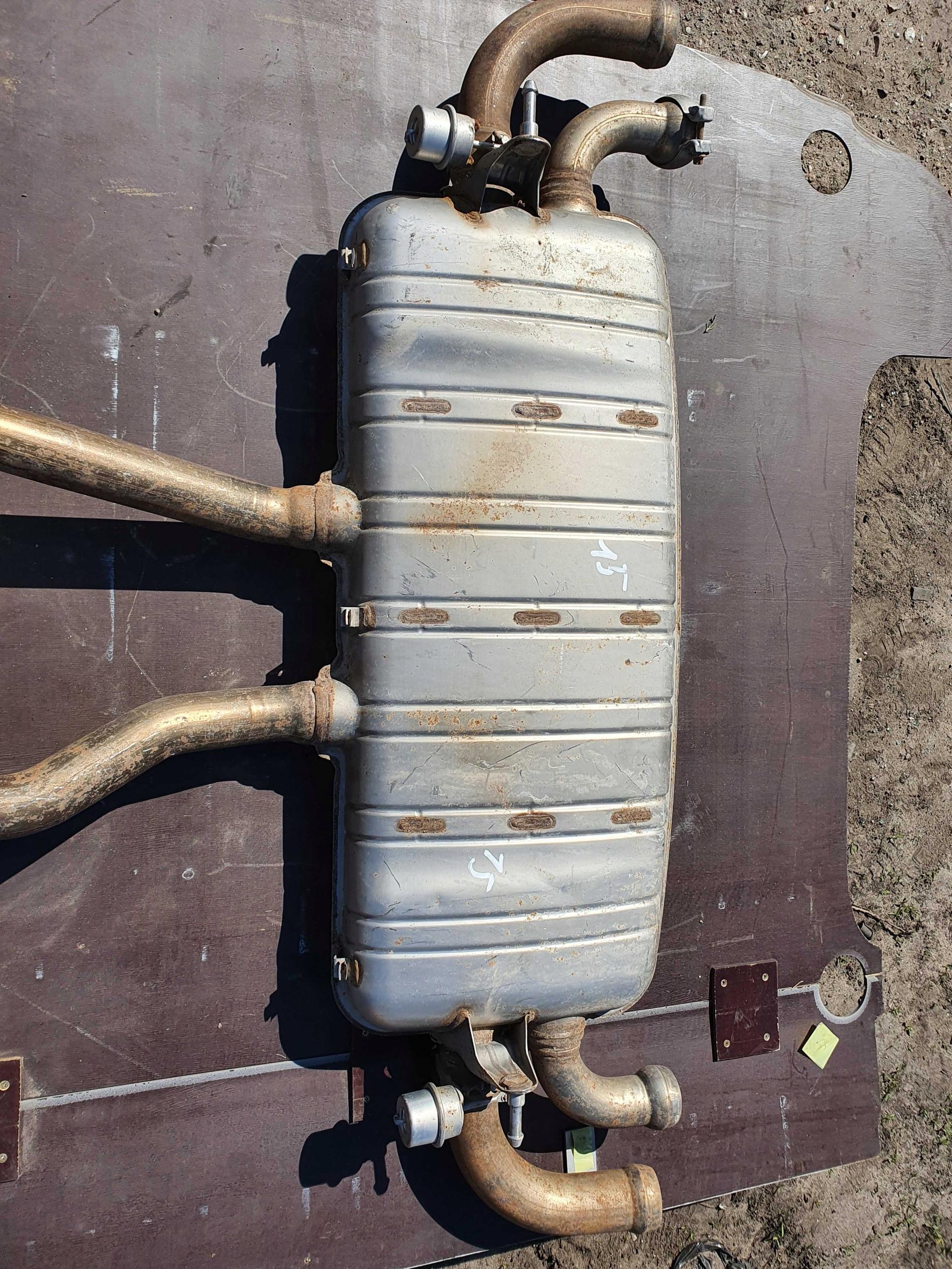 porsche cayenne глушитель выдох 7p5253611b 48i