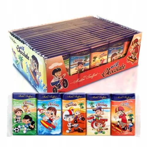 Молочный шоколад (5 x 15 г) 75 г x 20 шт - 3.9
