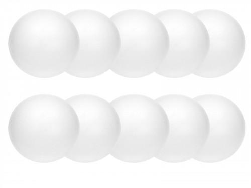 шарики , шарики пенопластовые - 10 см, 10 штук .