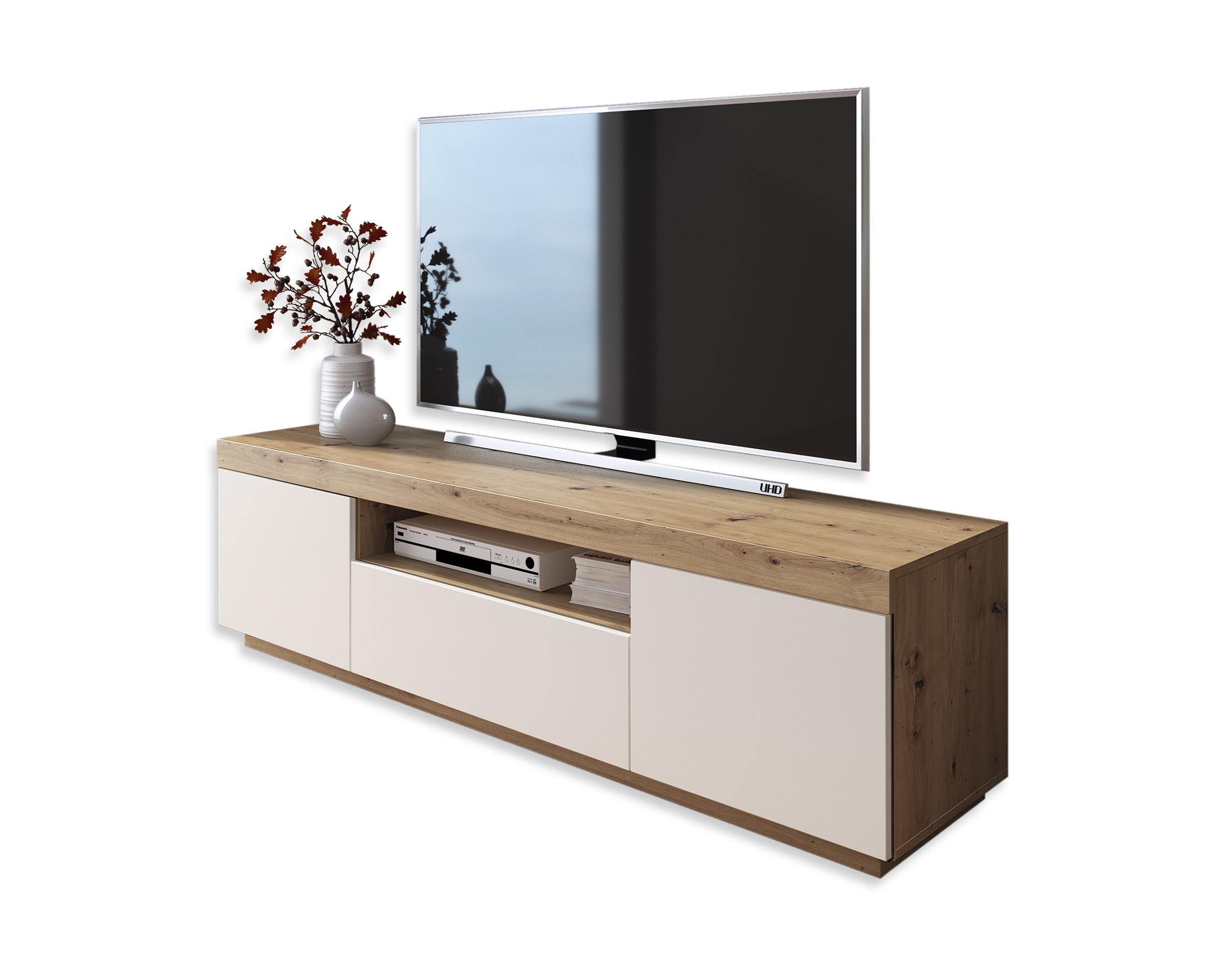 Szafka RTV stolik TV YOSHI wotan biały mat 170 cm