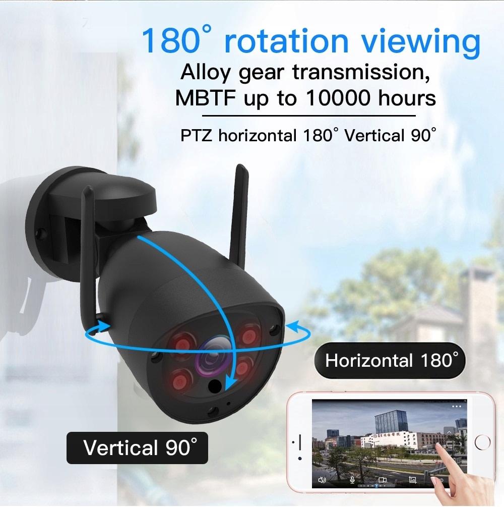 Kamera Obrotowa GSM 4G SIM LTE 5MPx SONY Tracking Typ kamery czarno-biała kolorowa na podczerwień