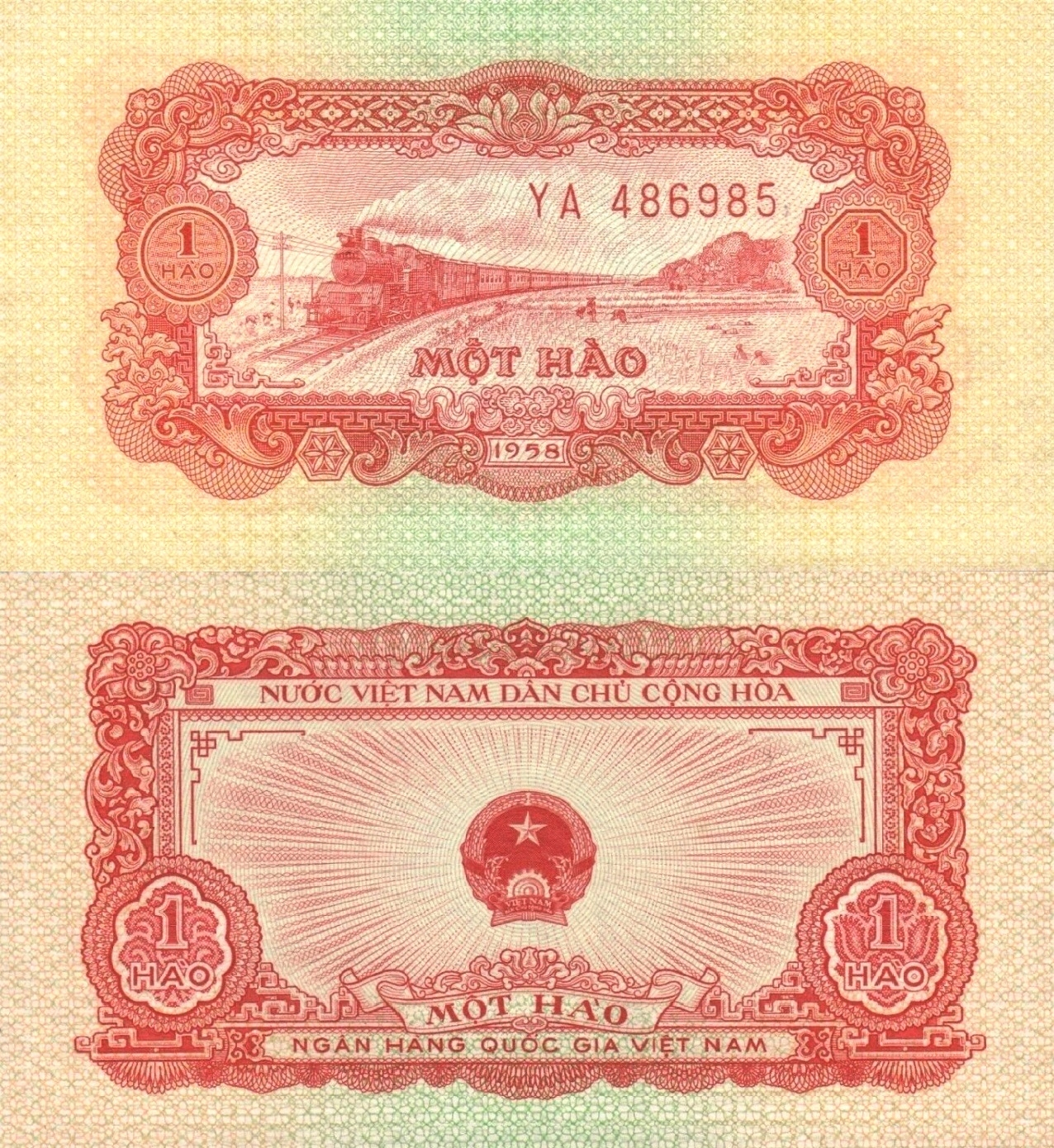 # WIETNAM - 1 HAO -1958 - P68 - UNC seria YA