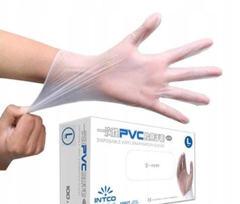 Одноразовые медицинские виниловые перчатки L