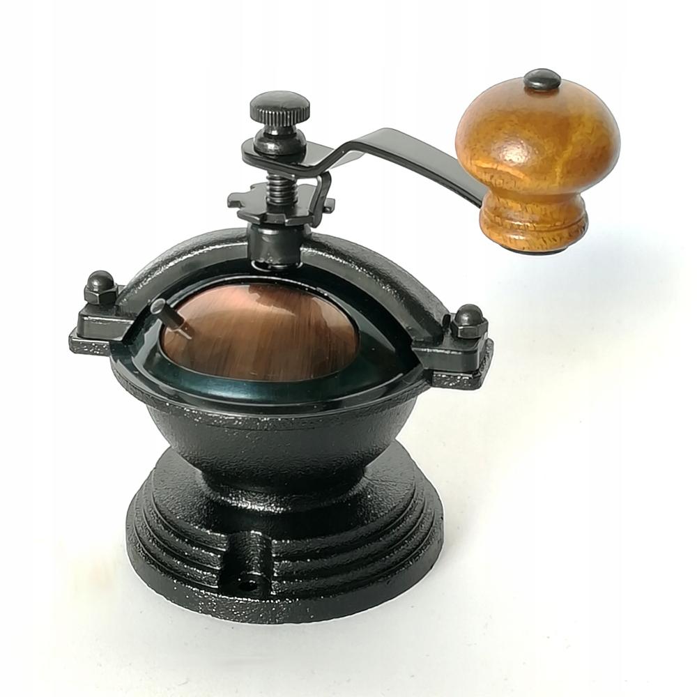 Ručný mlynček na kávu - mechanizmus v štýle retro DIY