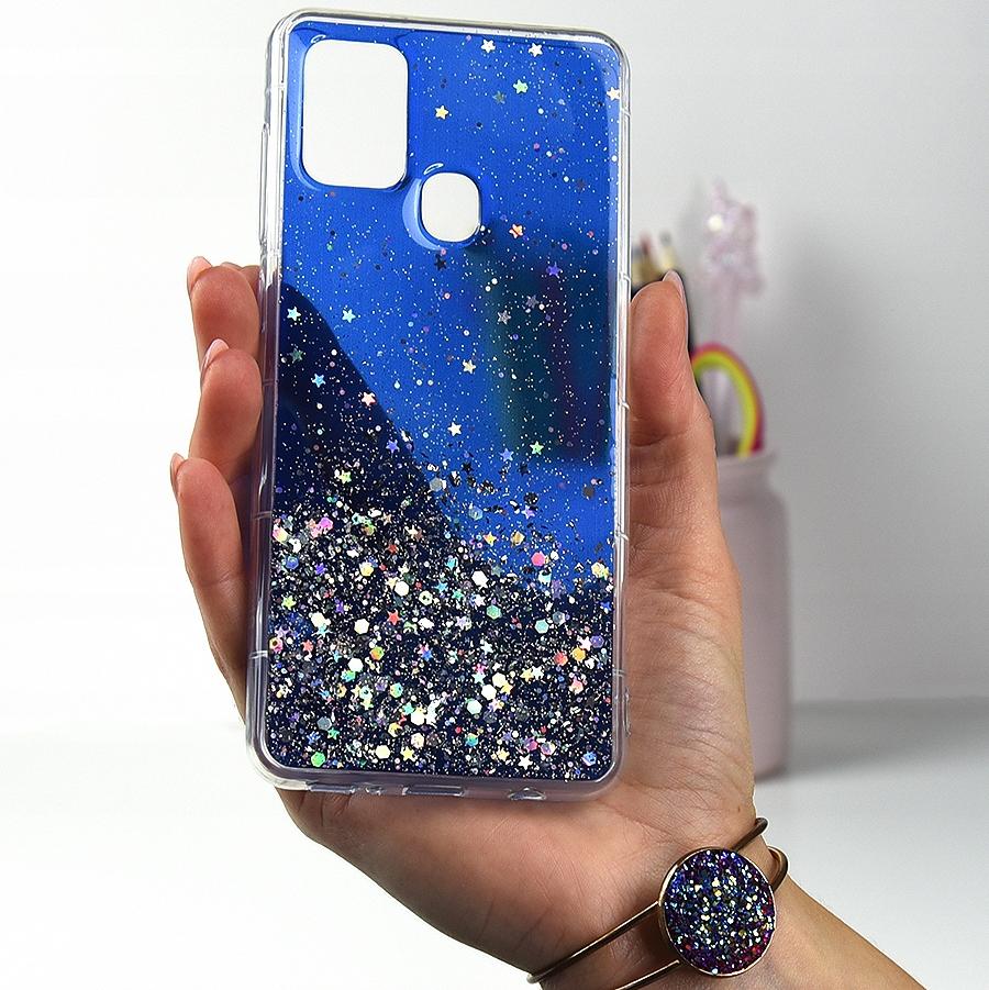 Etui CASE BROKAT + SZKŁO 9H do Samsung Galaxy A21S Dedykowany model Galaxy A21s