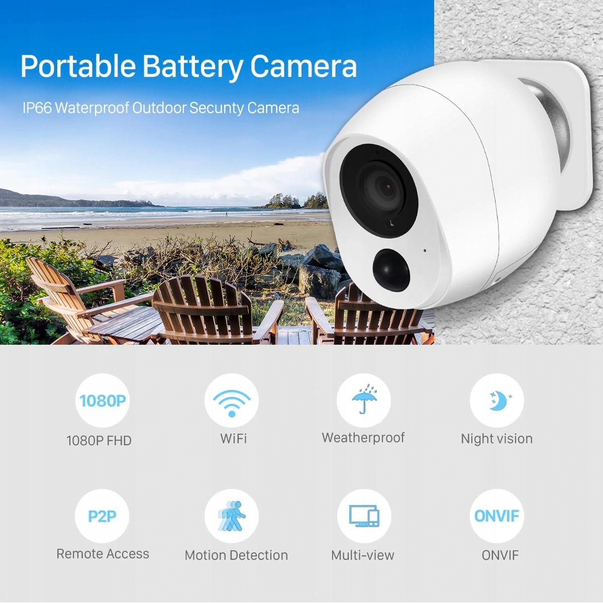 Kamera bezprzewodowa WIFI na baterie , MicroSD, IR Kod producenta 2020