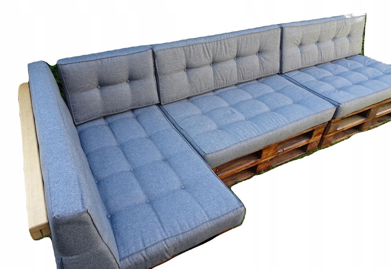 Poduszki na trzy PALETY kpl 8 szt SILVER 22 SZARY