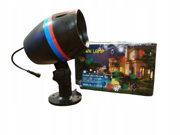 Vonkajší laserový projektor IP68 s farebnými snehovými vločkami