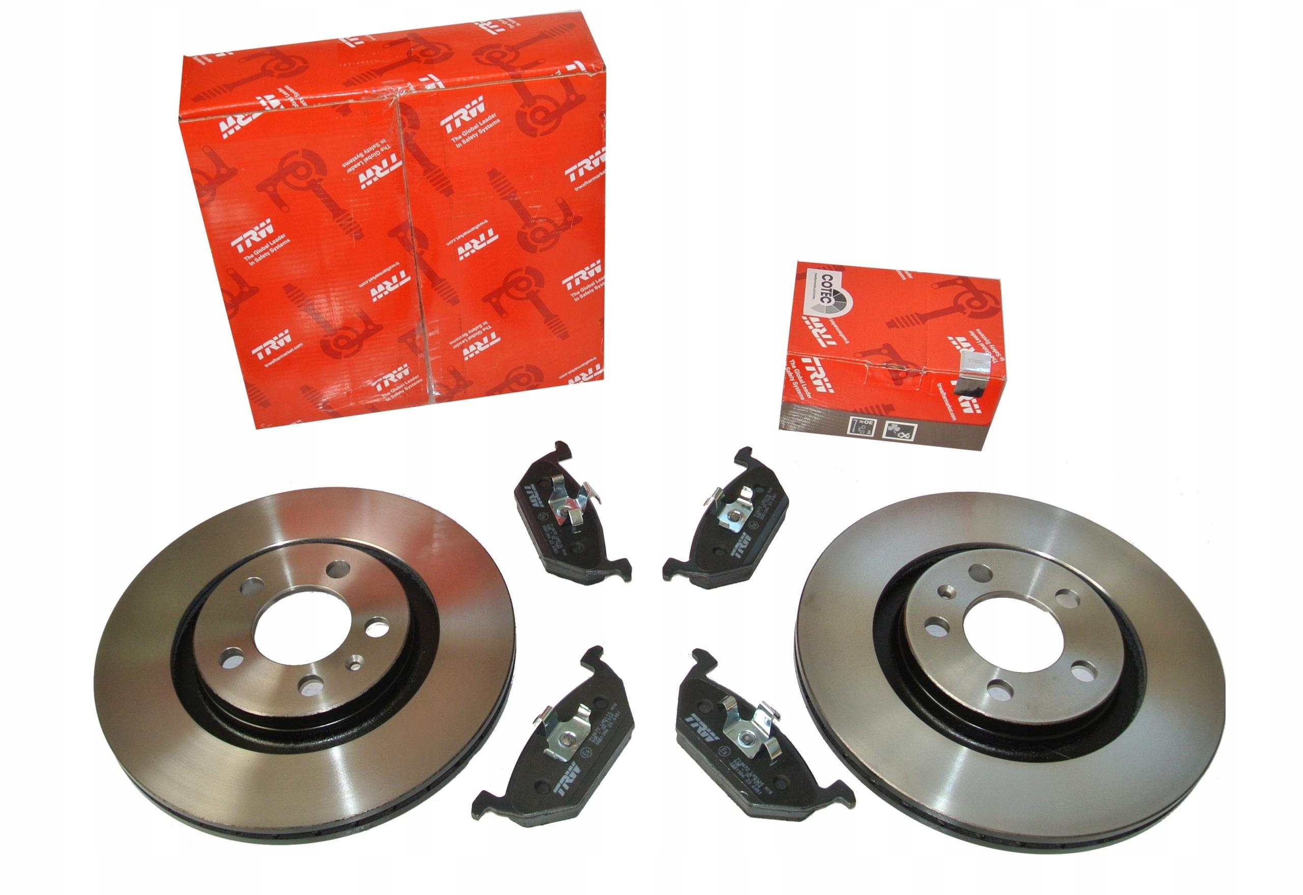 trw диски i колодки вперед vw passat b5 b5fl 288mm