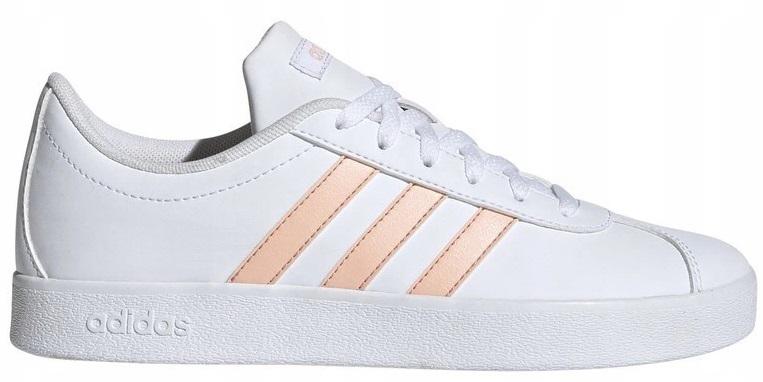 38 2/3 Buty Adidas VL Court Damskie Białe