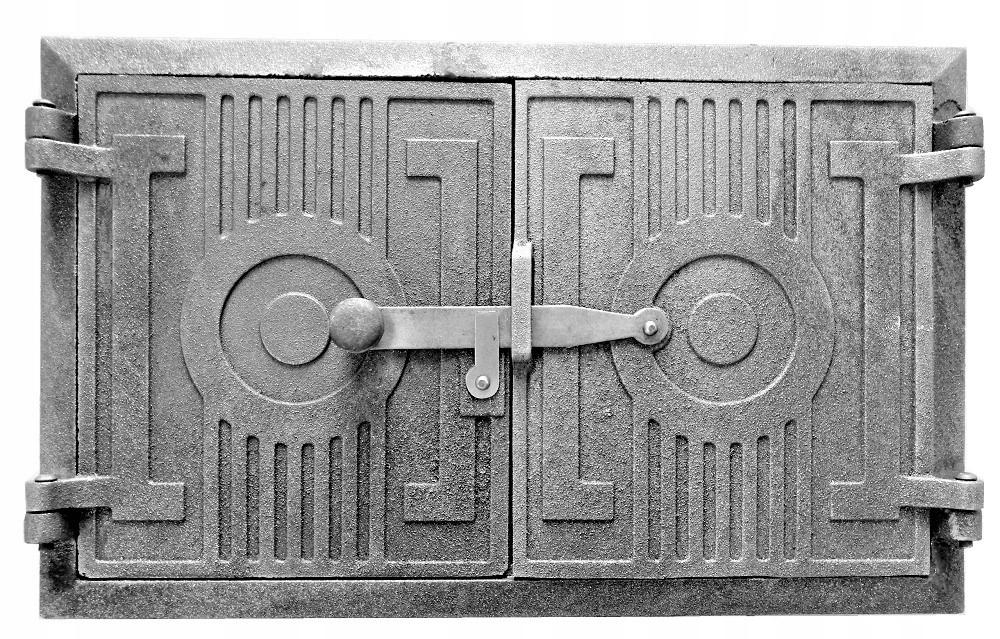 liatinové dvere na chlebový gril udiareň