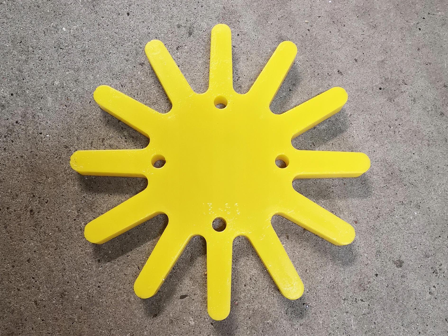 Gwiazda poliuretanowa do pielnika bocznego 195mm