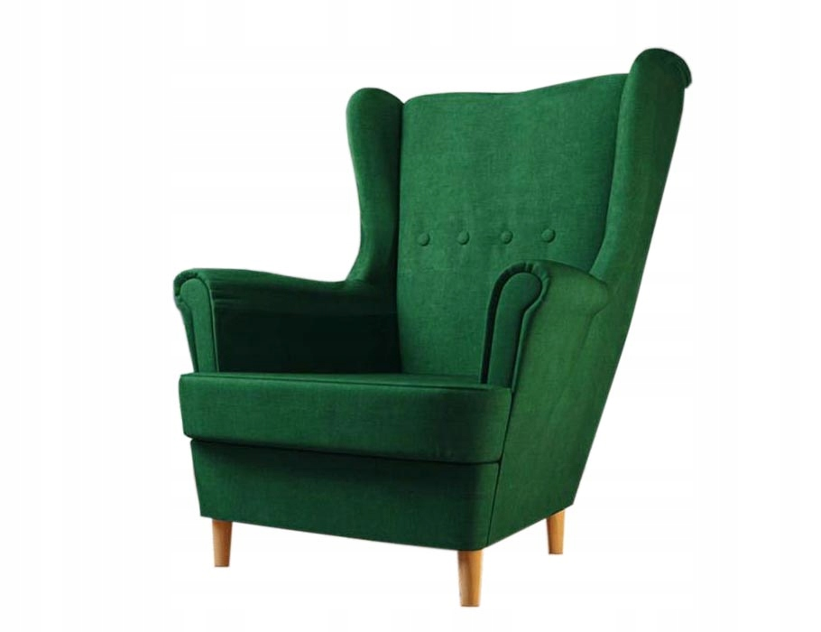 Комфортное скандинавское кресло УСЗАК, велюр, весна