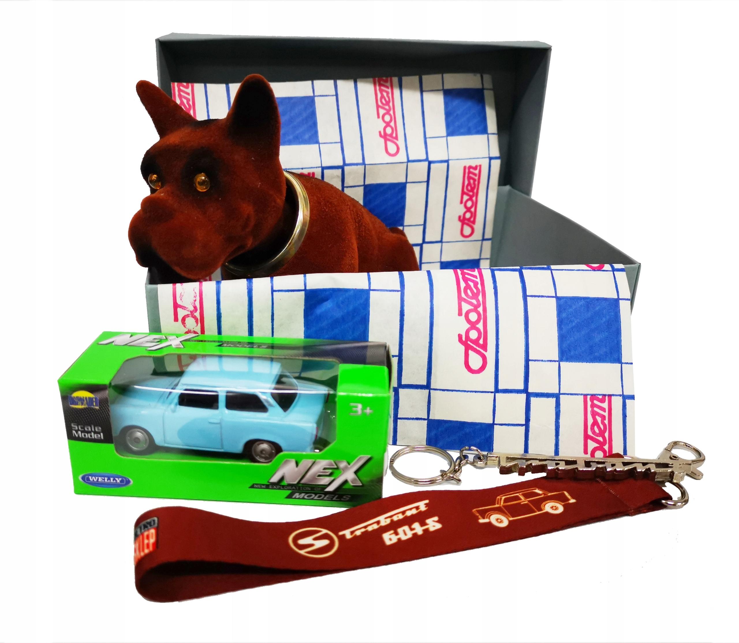 Retro BOX darček TRABANT psík + vychytávky