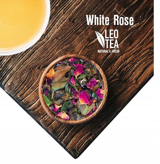 Белый чай с лепестками роз - нежный пион