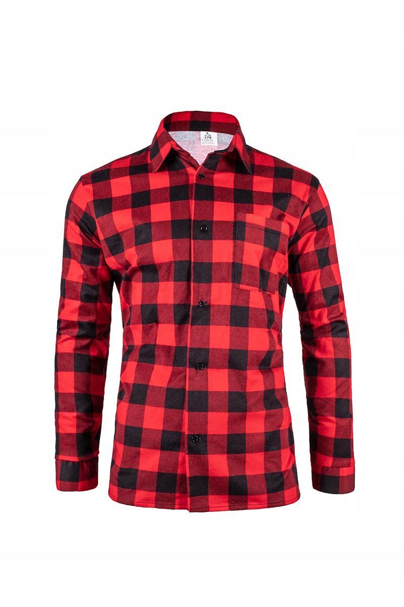 Flannel košeľa v červenej veľkosti M