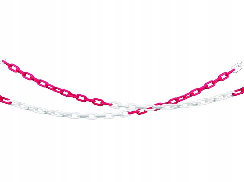 Łańcuch ostrzegawczy PCV czerwono - biały CXS 1mb