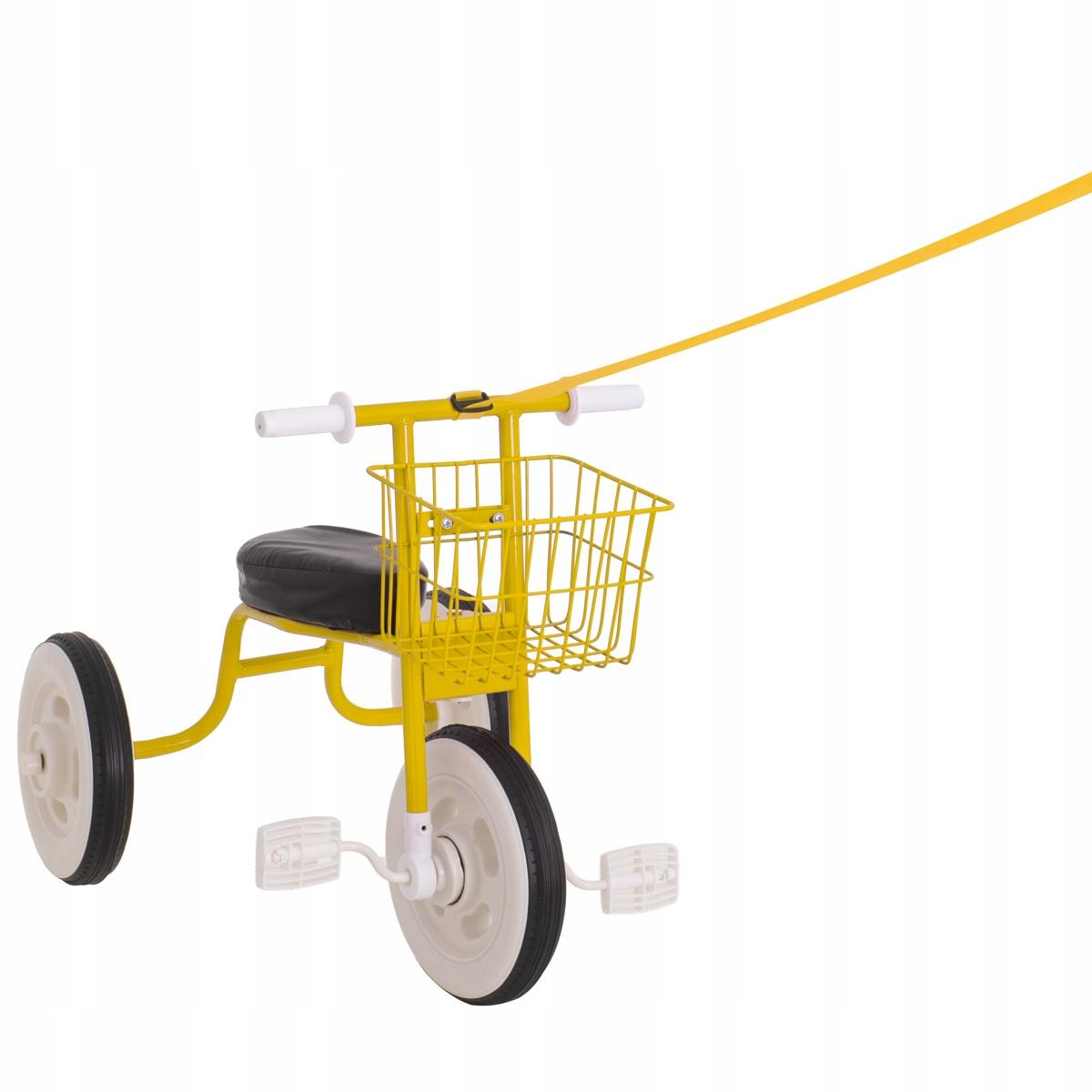 Retro trojkolka so žltým košíkom