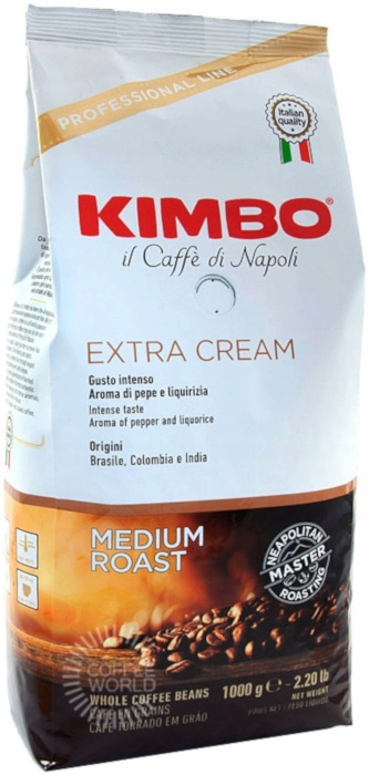 Кофе в зернах KIMBO EXTRA CREAM 1кг