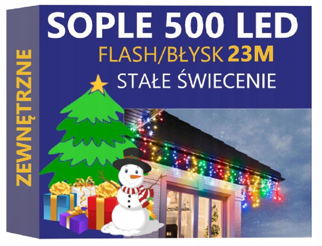 ICICLES 500 LED EXTERNÉ BLESKO PERMANENTNÉ MULTI SVETLO