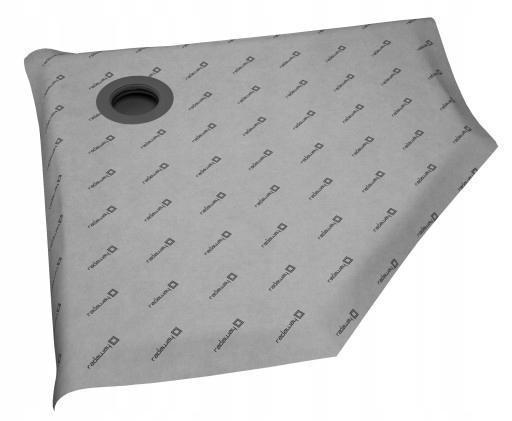 5-stranná kachľová sprchová vanička s roštom Radaway 90x90