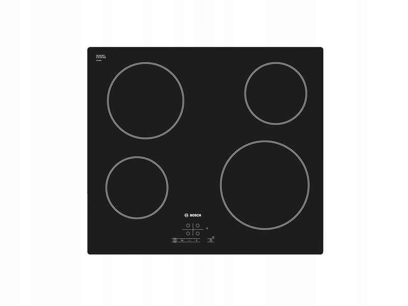черная плита Керамическая Bosch PKE611B17E 4 ПОЛЯ