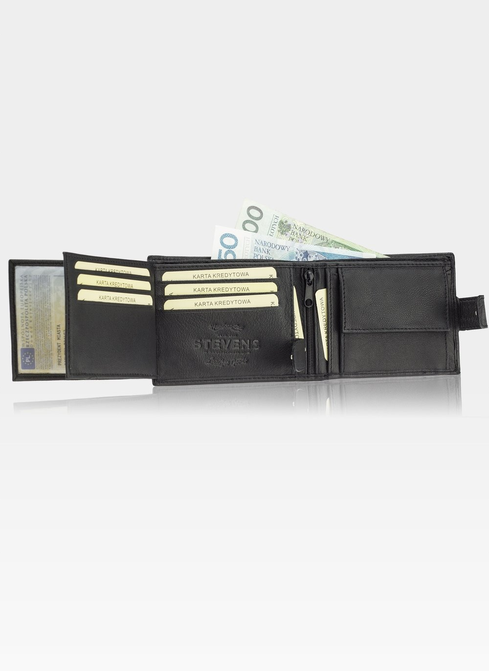 STEVENS GIFT SET Wallet Men's Leather Belt Additional features none