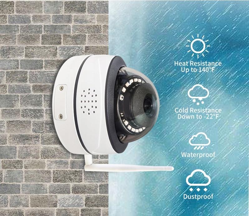 MONITORING KAMERA ZEWNĘTRZNA IP WiFi 5Mpx HD TUYA Rodzaj kamera