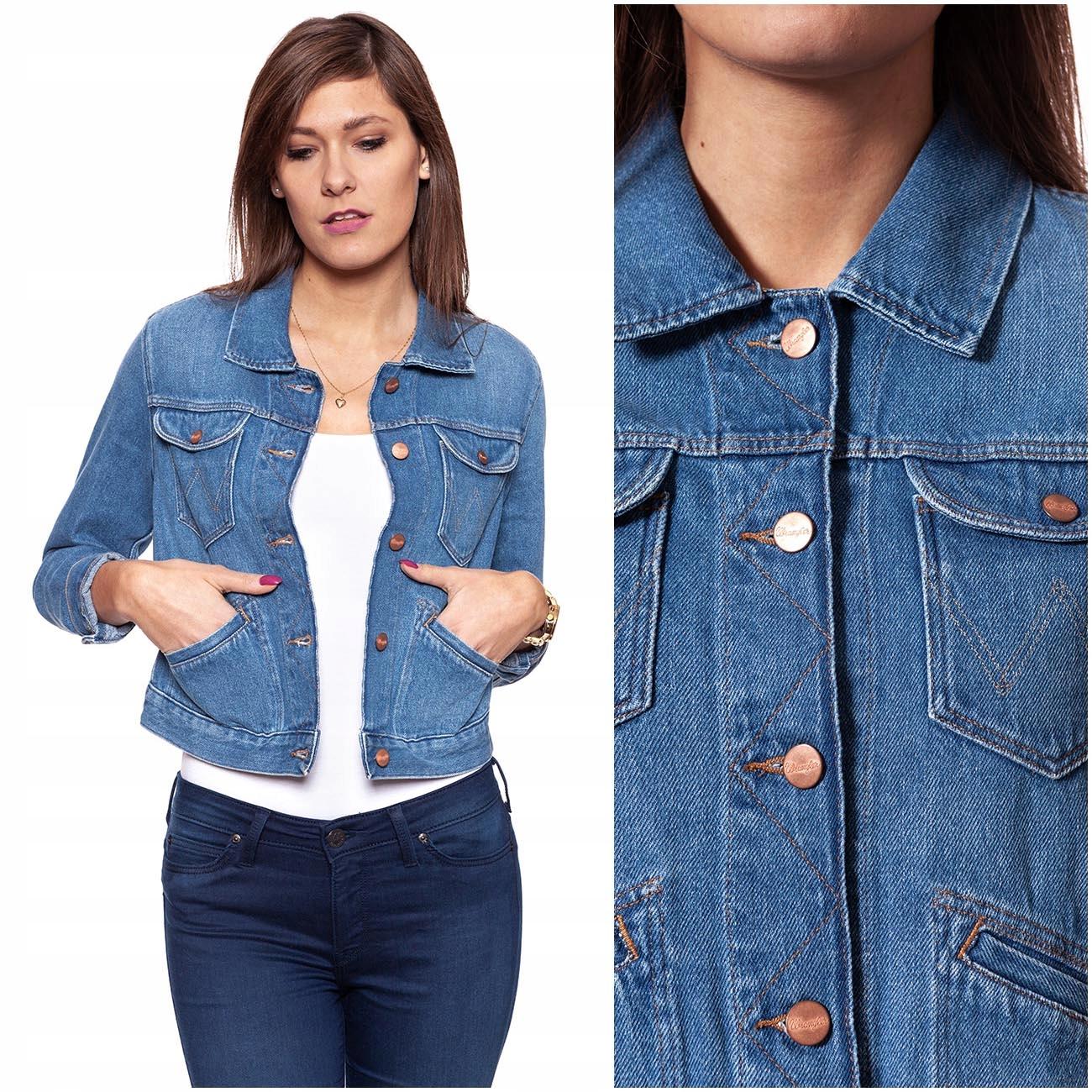 dluga kurtka jeansowa wrangler sprzedam