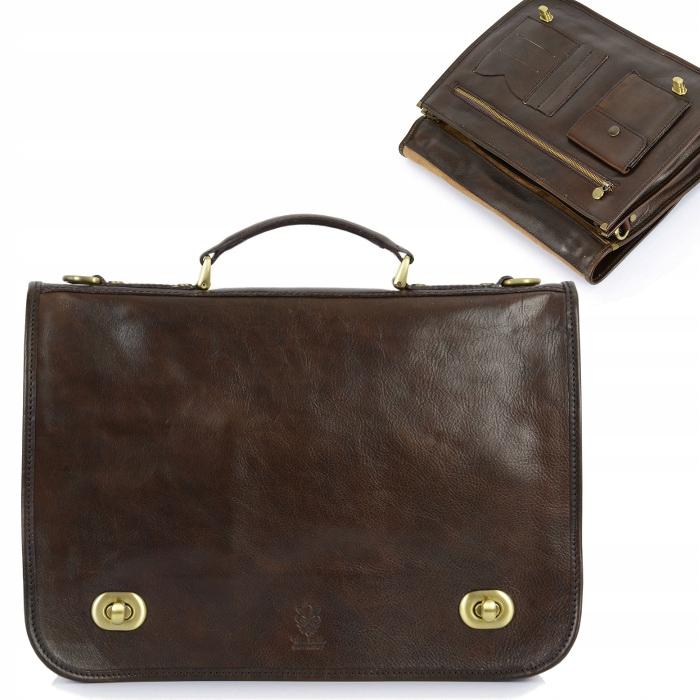 Kožená aktovka retro pracovná taška veľká a4 koža