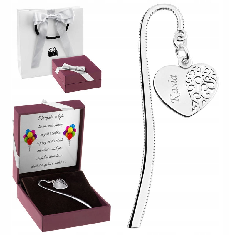 Item Bookmark heart silver Engraver