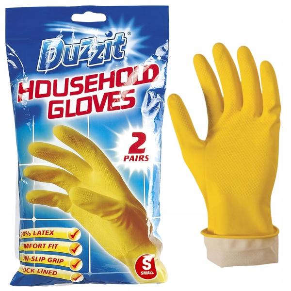 Резиновые перчатки Duzzit для чистки 2 пары S