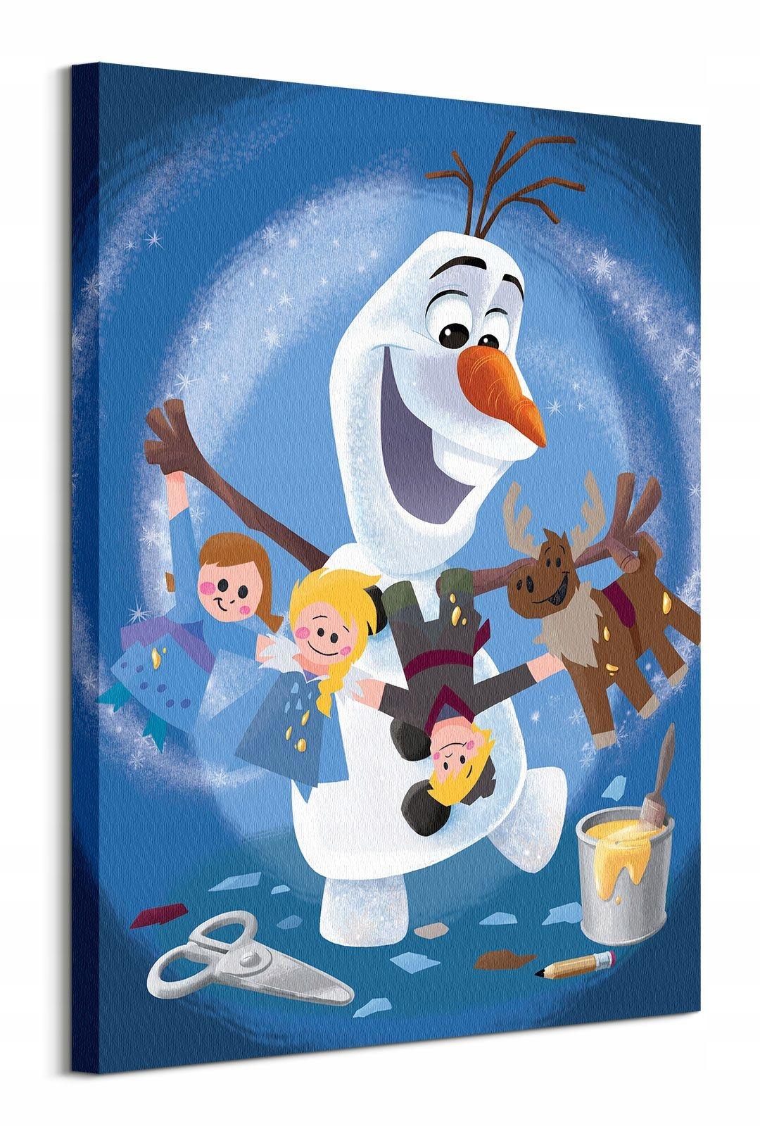 Frozen, Frozen, Olaf Maľba na plátno, 60x80 cm