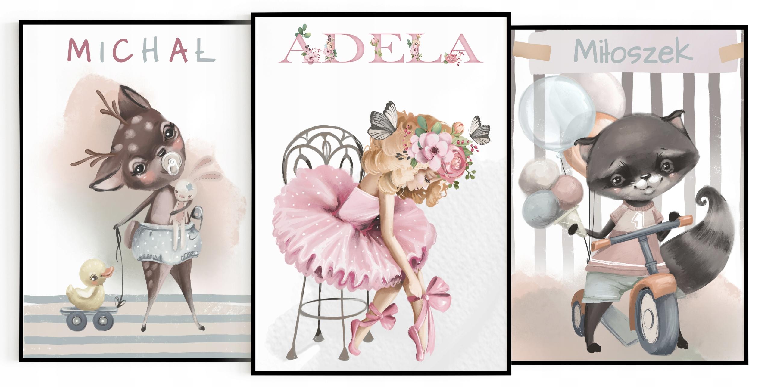Картины на день рождения, детская комната, оформление А4