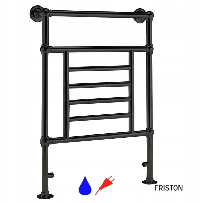 FRISTON Retro čierny kúpeľňový radiátor H92x61cm
