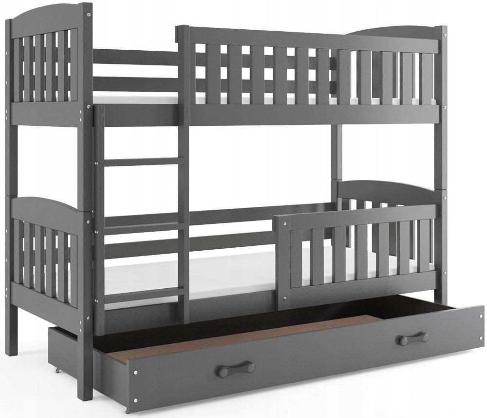 Łóżko piętrowe dla dzieci Kubuś 200x90 i BARIERKA