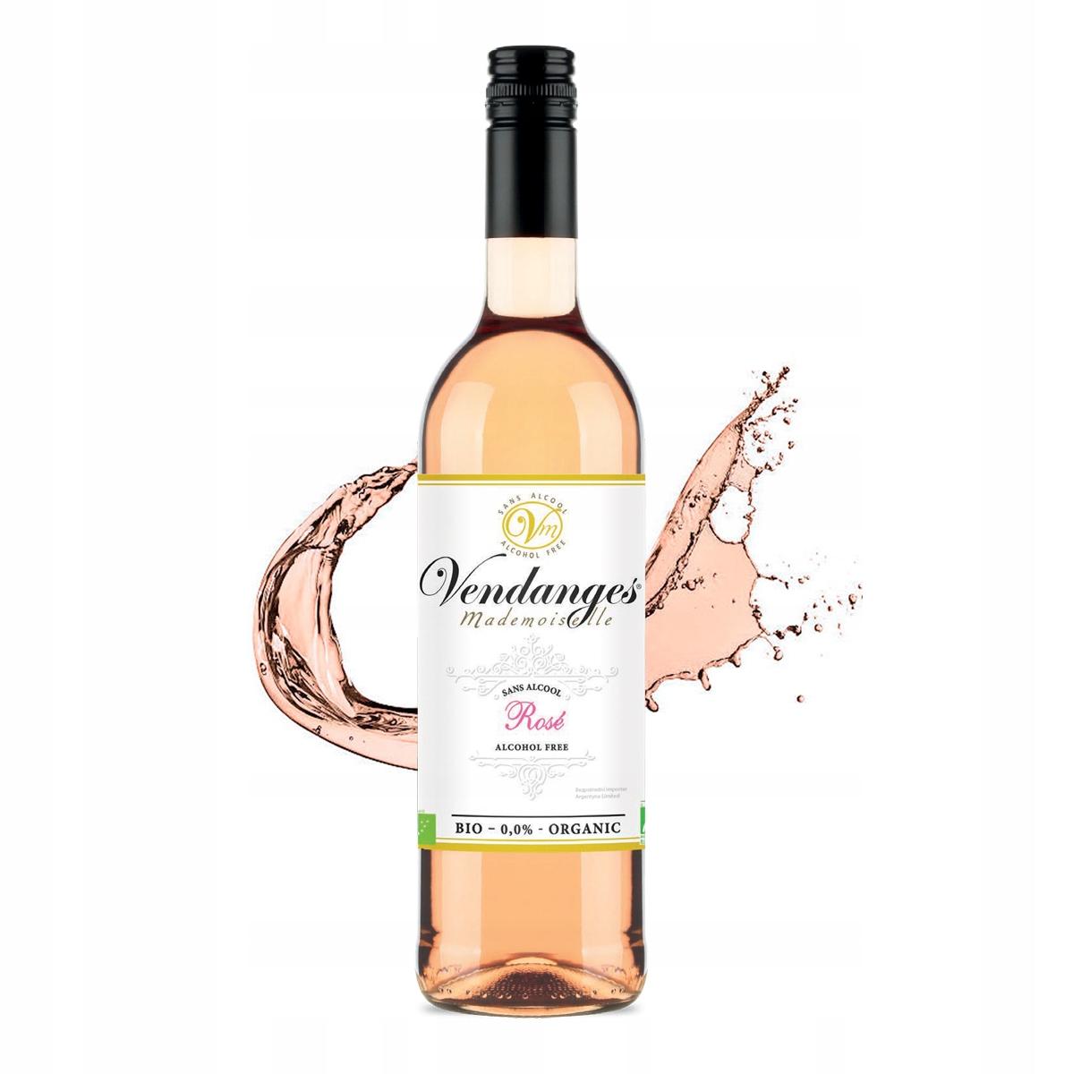 Вино безалкогольное Vendanges Rose BIO выросло на 0,0%