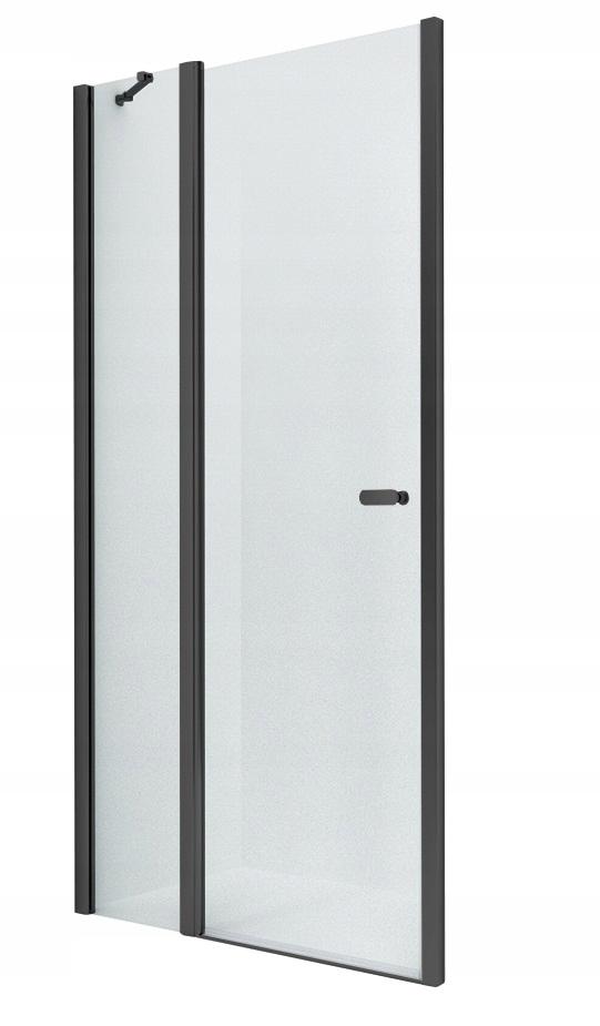 NOVINKA sprchové dvere SOLEO BLACK 100x195 cm