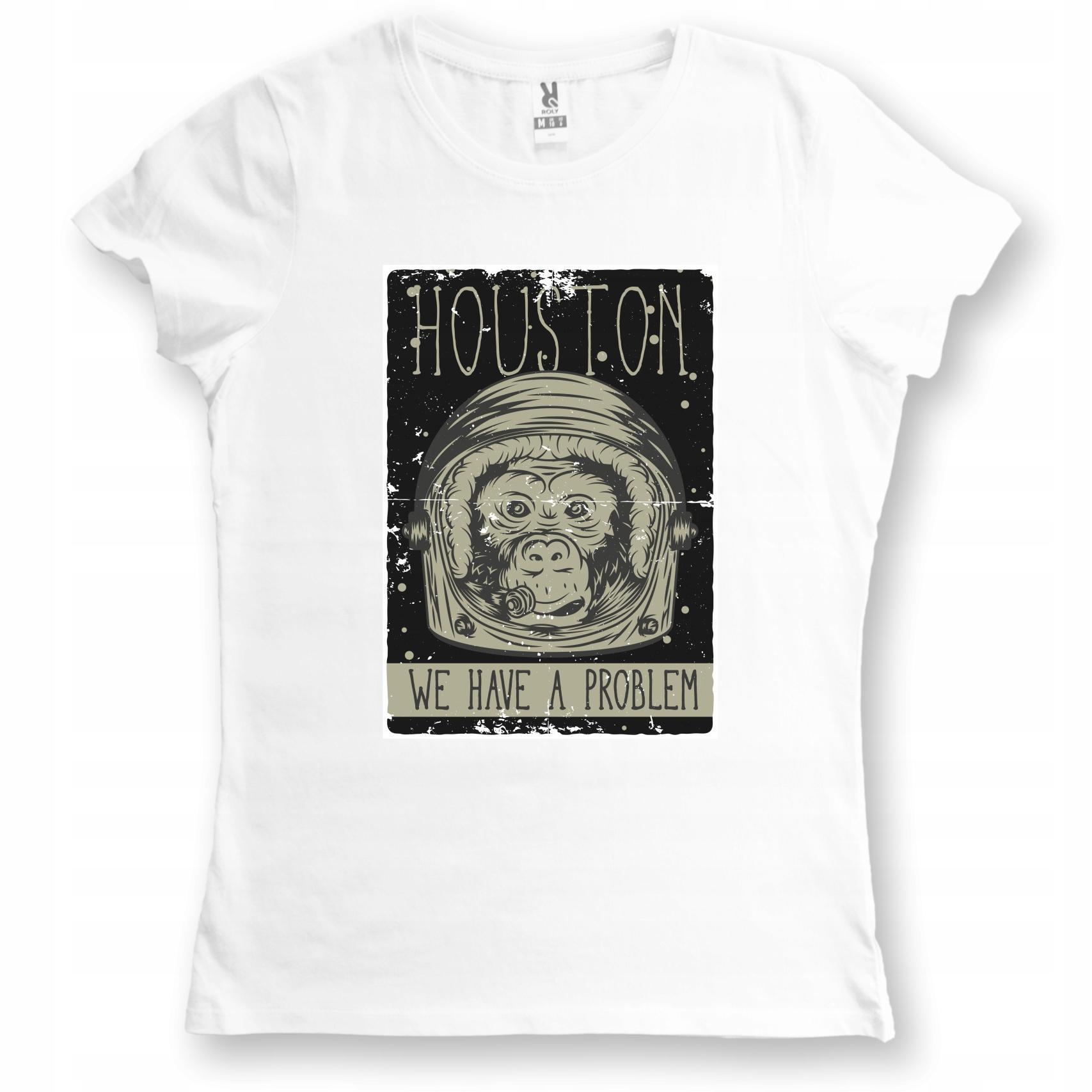 Koszulka damska Houston Problem Małpa Kosmos M