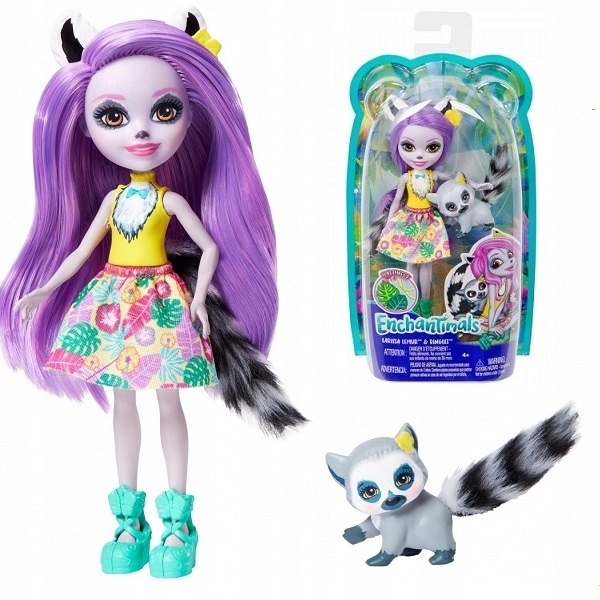 ENCHANTIMALS DOLL LARIS LEMUR + RINGLET GFN44